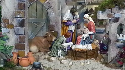 Kerstdiorama in het Jheronimus Bosch Art Center in Den Bosch